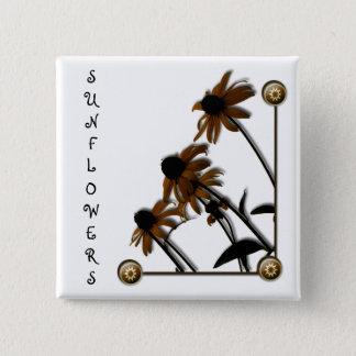 Sunflowers: Kansas Grown Button