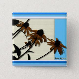 Sunflowers: Kansas Grown Pinback Button