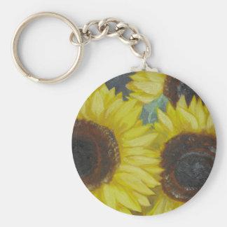 Sunflowers Key Chain