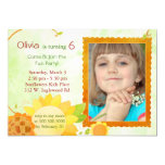 "Sunflowers Kids Birthday Party Photo Invitations 5"" X 7"" Invitation Card"