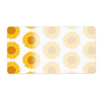 Sunflowers. Label