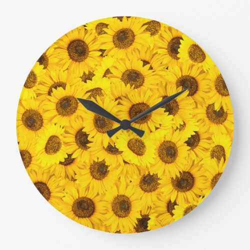 Sunflowers Large Clock