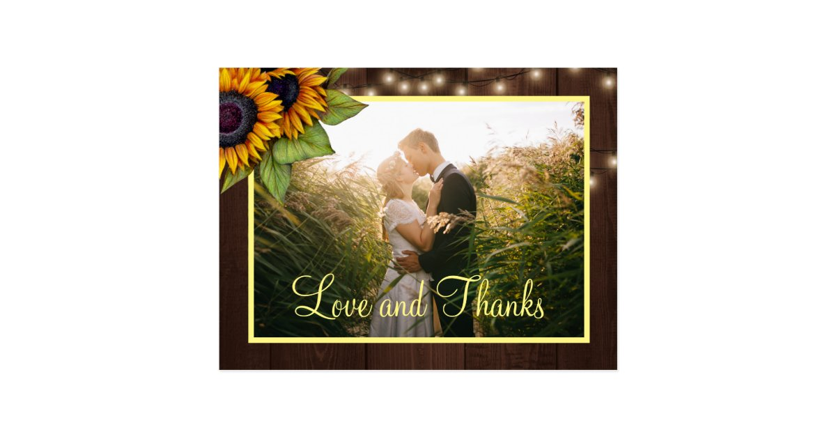 Sunflowers Love And Thanks Wedding