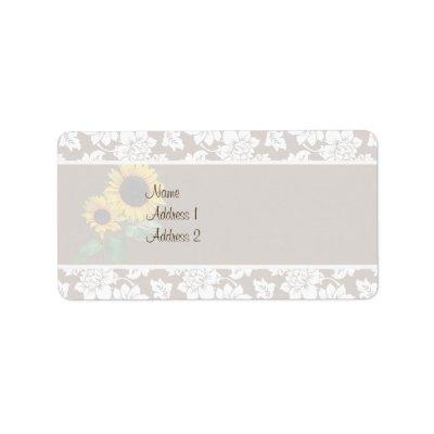 oval ring wedding blog Sunflower 39s Love Wedding Invitation Address Label