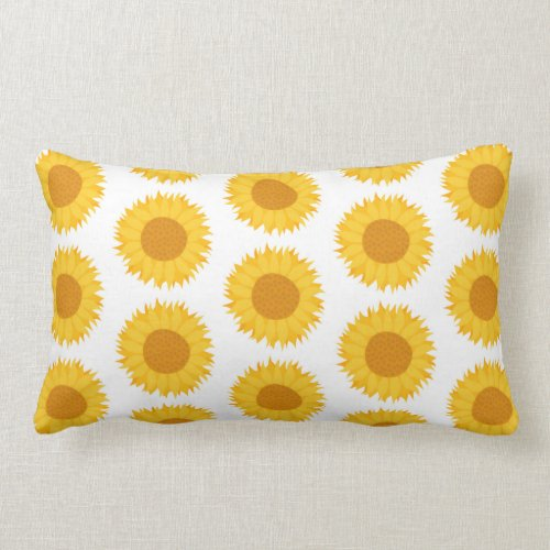 Sunflowers. Lumbar Pillow