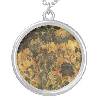 Sunflowers - Mark Patrick Digital Art Round Pendant Necklace
