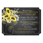 Sunflowers Mason Jar Chalkboard Bridal Shower Card