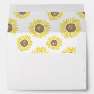 Sunflowers Mason Jar Envelope