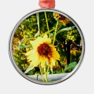 Sunflowers Metal Ornament