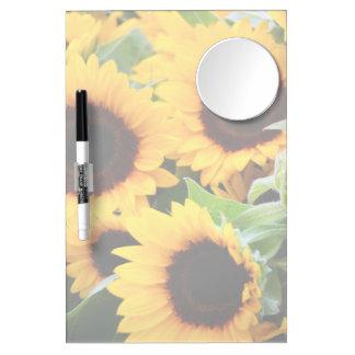 Sunflowers Mirror Dry Erase Board