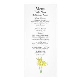 Sunflowers Modern Simple Elegant WeddingIdeas Rack Card
