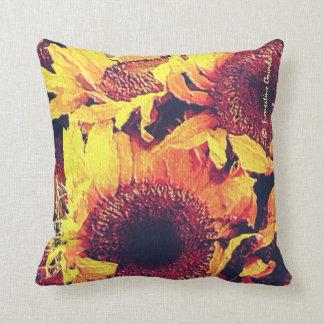 Sunflowers MoJo Throw Pillow