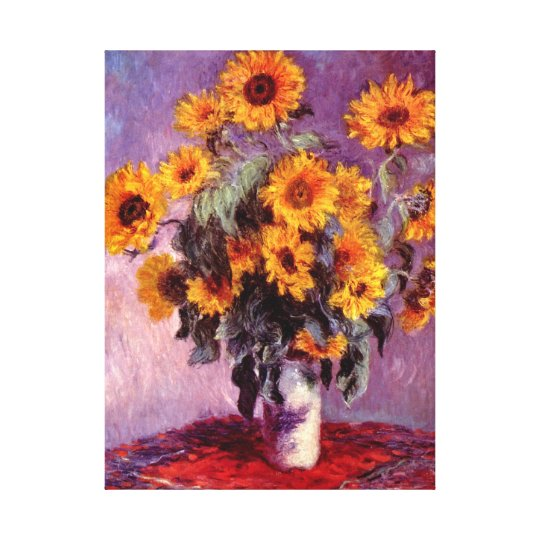 Sunflowers Monet Fine Art Canvas Print