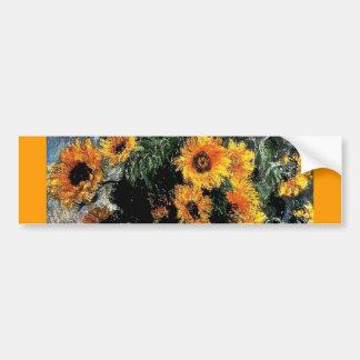 Sunflowers Monet painting Bumper Stickers