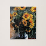 Sunflowers Monet painting Jigsaw Puzzles
