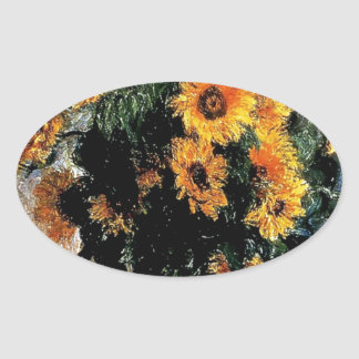Sunflowers Monet painting Stickers
