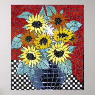 Sunflowers Mosaic Digital Photo Poster