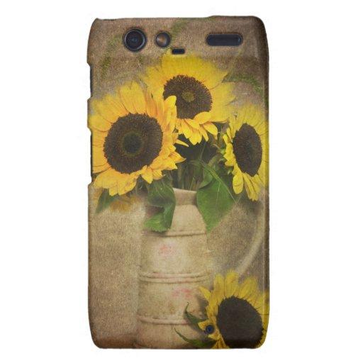 Sunflowers Motorola Droid RAZR Cover