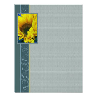 Sunflowers n Butterflies Stationary 2bc Flyer