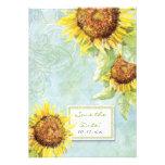 Sunflowers 'n Swirls, Wedding Invitation
