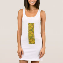 Sunflowers Nature, Flower-Mandala 03.3 Sleeveless Dress