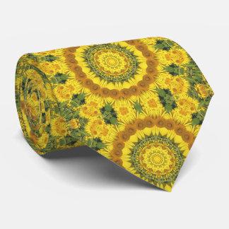 Sunflowers Nature, Flower-Mandala (Blumen-Mandala) Neck Tie