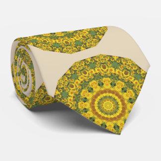 Sunflowers Nature, Flower-Mandala Neck Tie