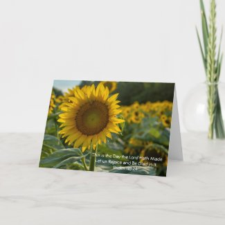 Sunflowers Note Card