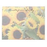 Sunflowers Notepad