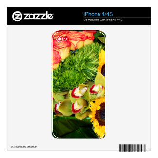 Sunflowers,Ochids,Anthurium,Flora of love_ Skins For iPhone 4