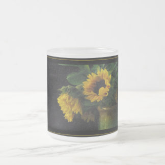 Sunflowers On A Frosted Mug