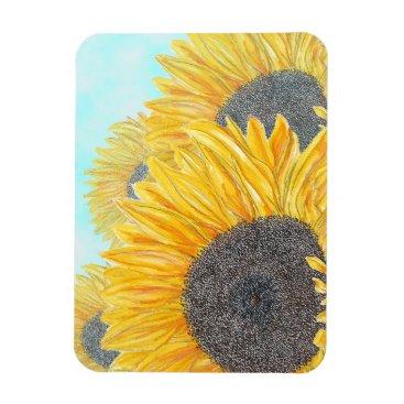 Beach Themed Sunflowers on a Sunny Day Magnet