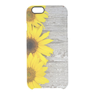 Sunflowers on a Table Clear iPhone 6/6S Case