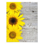 Sunflowers on a Table Photo Print