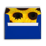 Sunflowers on Blue Envelopes