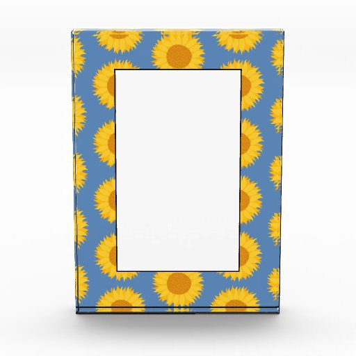 Sunflowers on Blue. Floral Pattern. Awards