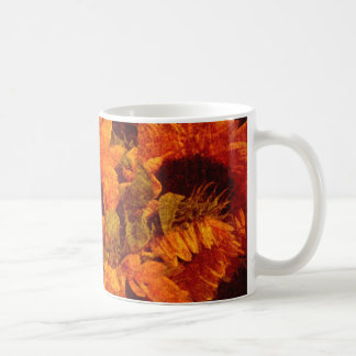 Sunflowers on Canvas Coffee Mug
