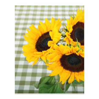 Sunflowers on Gingham Flyers