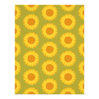 Sunflowers on Khaki Green Floral Pattern Full Color Flyer
