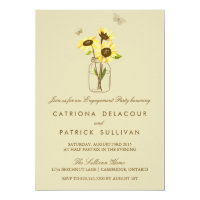 Sunflowers on Mason Jar Engagement Invitation (<em>$2.01</em>)