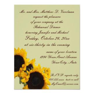 Sunflowers on Sage Green Invite