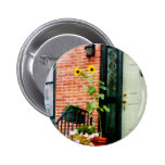 Sunflowers on Stoop Pinback Buttons