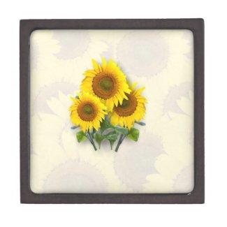 Sunflowers on Sunflowers Premium Keepsake Box