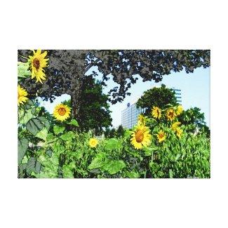 Sunflowers Outside Dearborn World Headquarters