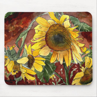 sunflowers painting art gifts mousepads