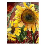 sunflowers painting art gifts post card