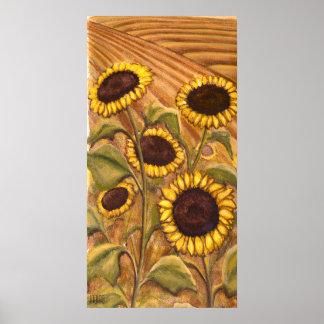 Sunflowers Painting Canadian Landscape Art Prints