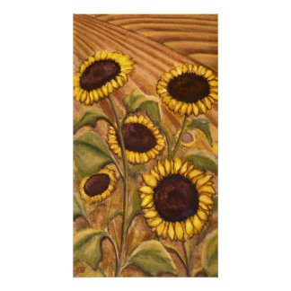 Sunflowers Painting Canadian Landscape Painting Pr Poster