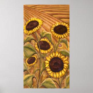 Sunflowers Painting Canadian Landscape Prints