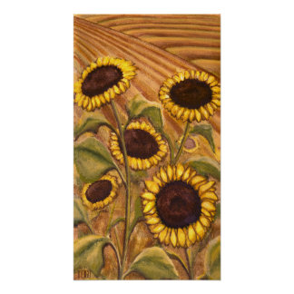 Sunflowers Painting Canadian Landscape Prints Poster
